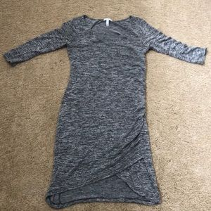 EUC Leith size large gray ruched dress